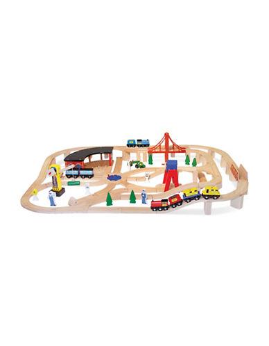 Melissa & Doug Wooden Railway Set-MULTI-One Size