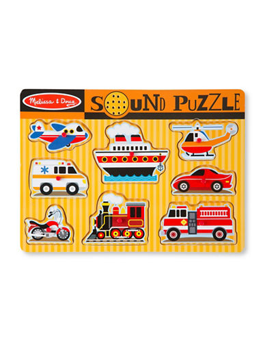 Melissa & Doug Vehicles Sound Puzzle-MULTI-One Size