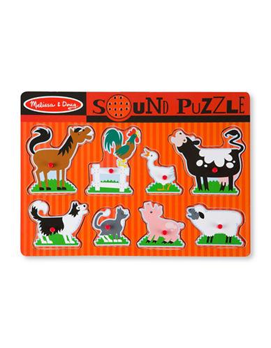 Melissa & Doug Farm Animals Sound Puzzle-MULTI-One Size