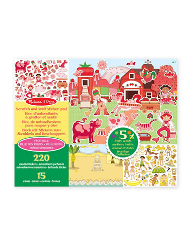 Melissa & Doug Fruitville Scratch and Sniff Sticker Pad-MULTI-One Size