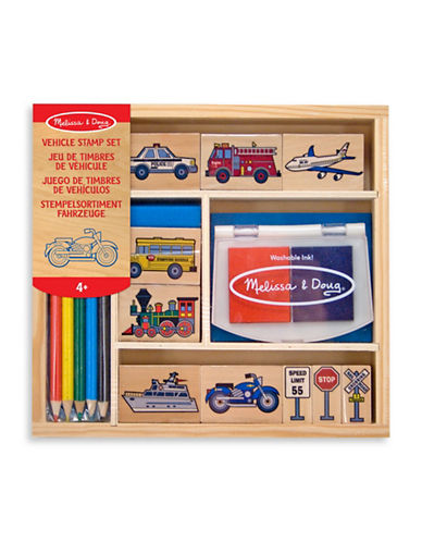Melissa & Doug Vehicle Stamp Set-MULTI-One Size