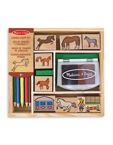 Melissa & Doug Horses Stamp Set-MULTI-One Size