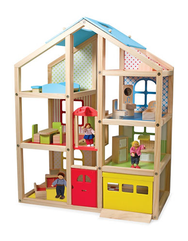 Melissa & Doug Wooden Hi-Rise Dollhouse-MULTI-One Size