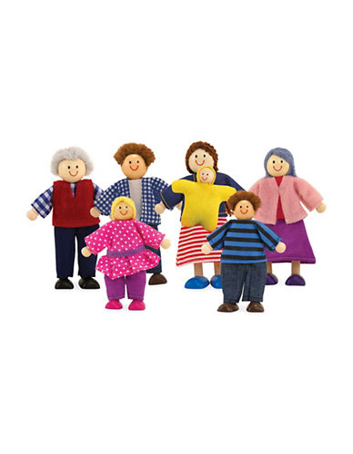 Melissa & Doug Wooden Doll Family-MULTI-One Size