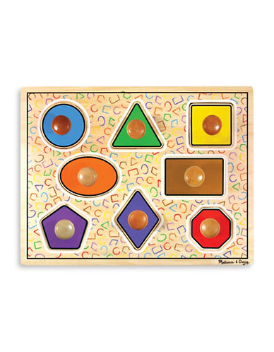 Melissa & Doug Geometric Shapes Large Peg Puzzle-MULTI-One Size