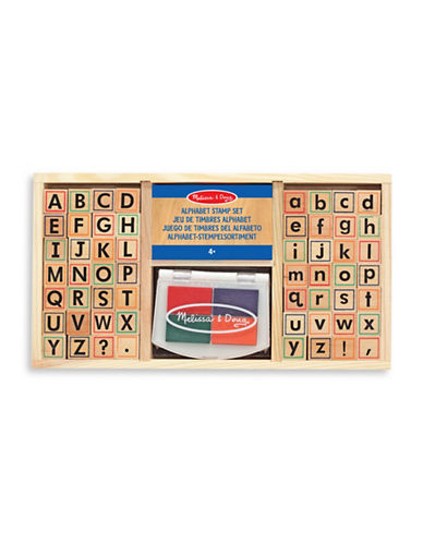 Melissa & Doug Alphabet Stamp Set-MULTI-One Size
