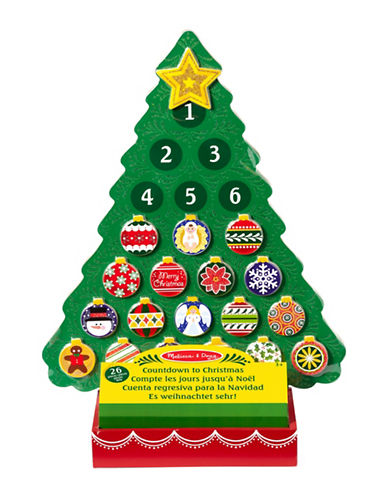 Melissa & Doug Countdown to Christmas Wooden Advent Calendar-MULTI-One Size