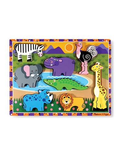 Melissa & Doug Safari Chunky Puzzle-MULTI-One Size