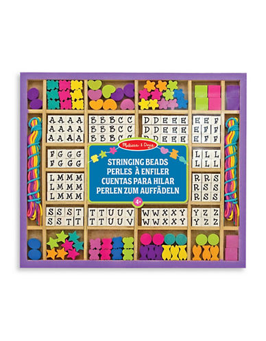 Melissa & Doug Wooden Stringing Beads-MULTI-One Size
