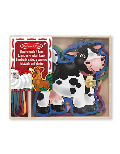 Melissa & Doug Wooden Panels and Laces - Farm Animals-MULTI-One Size