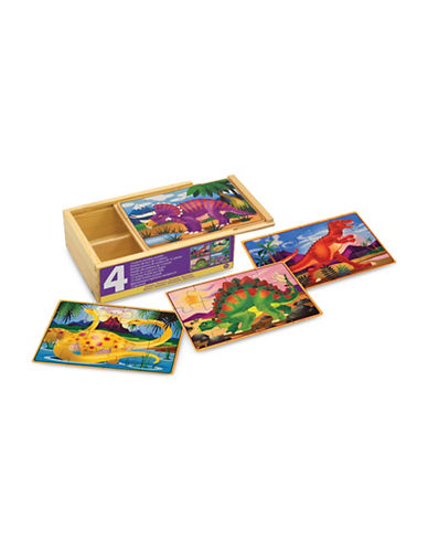 Melissa & Doug Dinosaurs Puzzles in a Box-MULTI-One Size