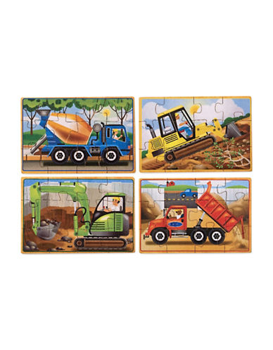 Melissa & Doug Construction Puzzles in a Box-MULTI-One Size