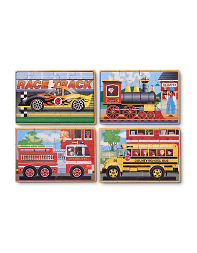 Melissa & Doug Vehicle Puzzles in a Box-MULTI-One Size