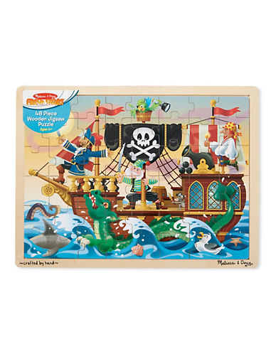 Melissa & Doug Pirate Adventure Jigsaw Puzzle-MULTI-One Size