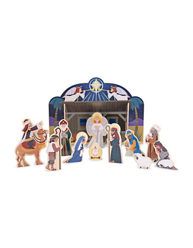 Melissa & Doug Wooden Nativity Set-MULTI-One Size