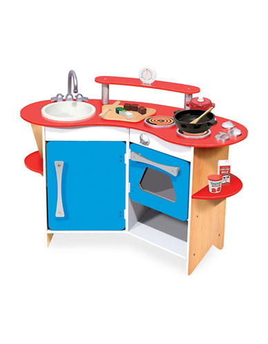 Melissa & Doug Cooks Corner Wooden Kitchen-MULTI-One Size
