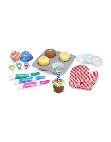Melissa & Doug Wooden Cupcake Set-MULTI-One Size