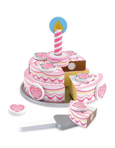 Melissa & Doug Wooden Triple-Layer Party Cake-MULTI-One Size