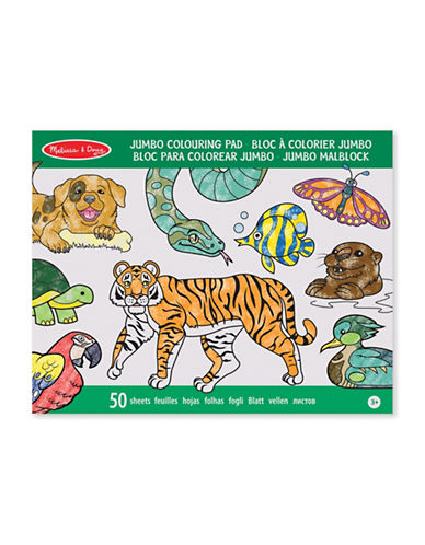 Melissa & Doug Jumbo Animals Colouring Pad-MULTI-One Size
