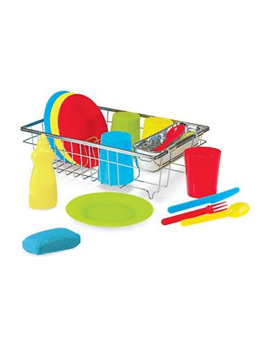 Melissa & Doug Wash & Dry Dish Set-MULTI-One Size