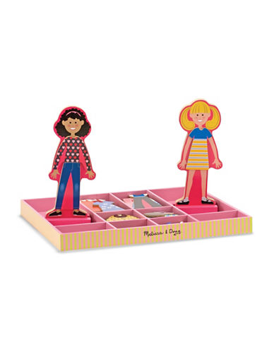 Melissa & Doug Abby and Emma Magnetic Wooden Dress-Up Dolls-MULTI-One Size