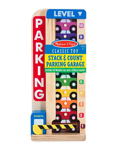 Melissa & Doug Stack & Count Parking Garage-MULTI-One Size