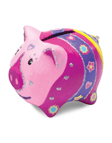 Melissa & Doug Piggy Bank Kit-MULTI-One Size