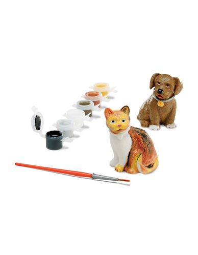 Melissa & Doug Pet Figurines Painting Set-MULTI-One Size