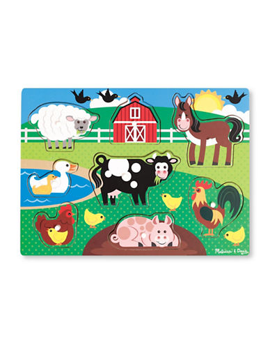 Melissa & Doug Farm Animals Wooden Peg Puzzle-MULTI-One Size