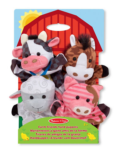 Melissa & Doug Farm Hands Animal Puppets-MULTI-One Size