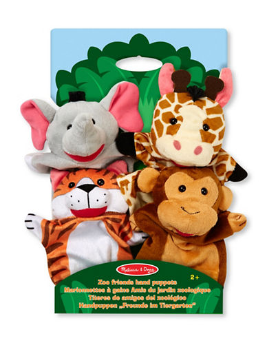 Melissa & Doug Zoo Friends Hand Puppets-MULTI-One Size