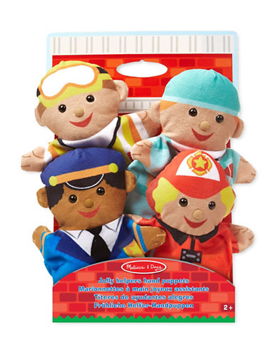 Melissa & Doug Four-Piece Jolly Helpers Hand Puppets-MULTI-One Size