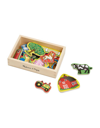 Melissa & Doug 20-Piece Wooden Farm Magnets-MULTI-One Size
