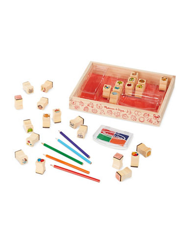 Melissa & Doug 26-Piece Favourite Things Stamp Set-MULTI-One Size
