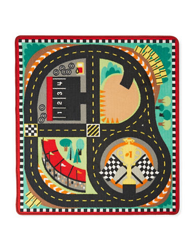 Melissa & Doug Around The Race Track Rug-MULTI-One Size