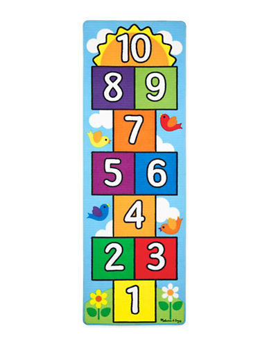 Melissa & Doug Hop and Count Hopscotch Rug-MULTI-One Size