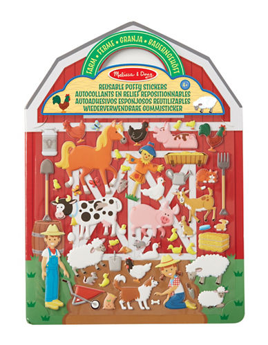 Melissa & Doug Farm Themed Reusable Puffy Stickers-MULTI-One Size