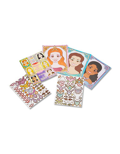 Melissa & Doug Make-A-Face Princesses Sticker Pad-MULTI-One Size