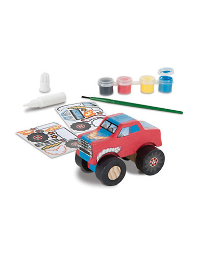 Melissa & Doug Decorate-Your-Own Monster Truck Set-MULTI-One Size