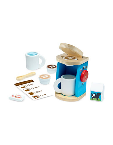 Melissa & Doug Wooden Brew and Serve Coffee Set-MULTI-One Size