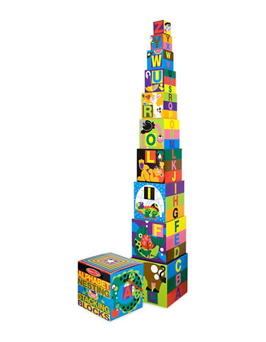 Melissa & Doug English Alphabet Nesting and Stacking Blocks-MULTI-One Size