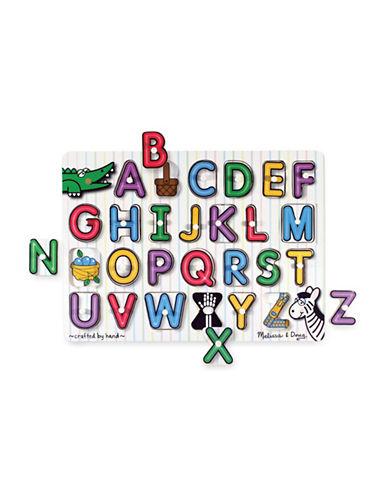 Melissa & Doug English Alphabet Peg Puzzle-MULTI-One Size