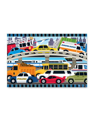 Melissa & Doug Traffic Jam Floor Puzzle-MULTI-One Size