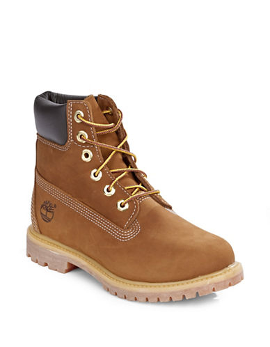 Timberland Premium Leather Ankle Boots-RUST-9.5