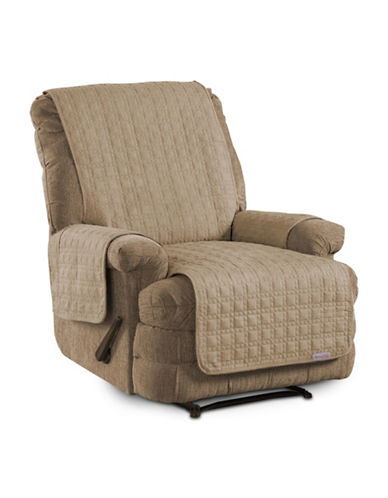 Sure Fit Microsuede Recliner and Chaise Protector-BISCUIT-One Size