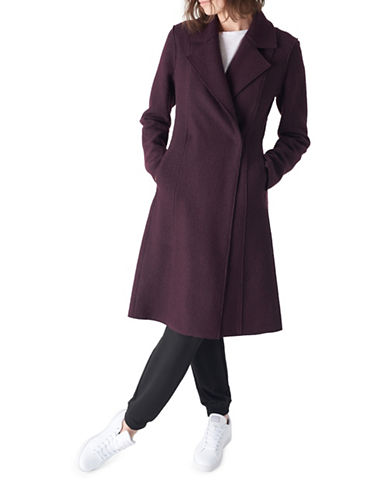 Sosken Emmy Double-Breasted Coat-GRAPE-Small