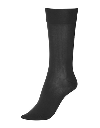 Hue Ultrasmooth Sock-BLACK-One Size