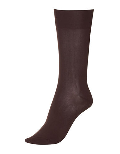 Hue Ultrasmooth Sock-ESPRESSO-One Size