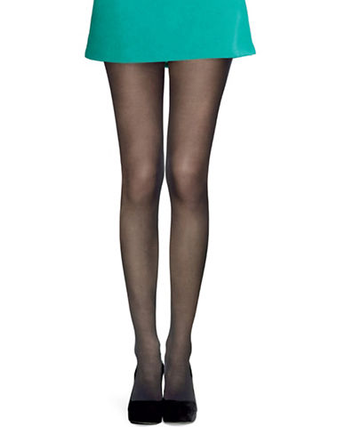 Hue Sheer Tights With Control Top-BLACK-2