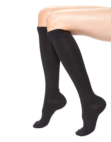 Hue Modal Knee Socks-BLACK-One Size